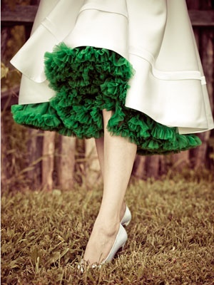 green-ruffled-dress