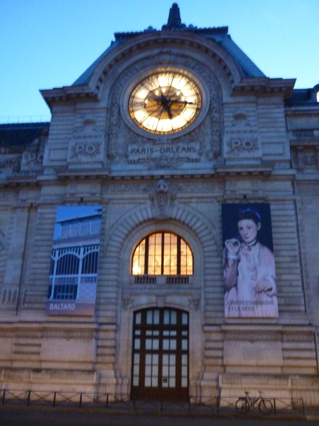 Musee d'Orsay in the blue hour