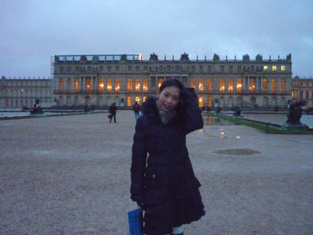 Palace of Versailles Paris by night blue hour
