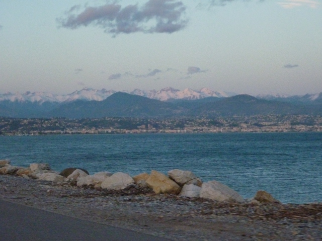 French Alps in the distance on the way to Cote d'Azur