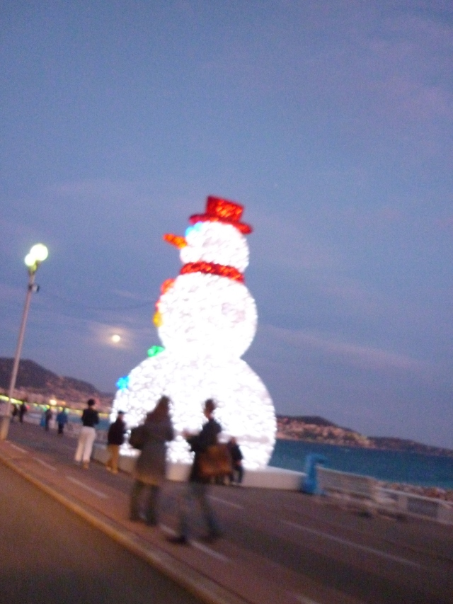 The Promenade des Anglais Nice at Christmas