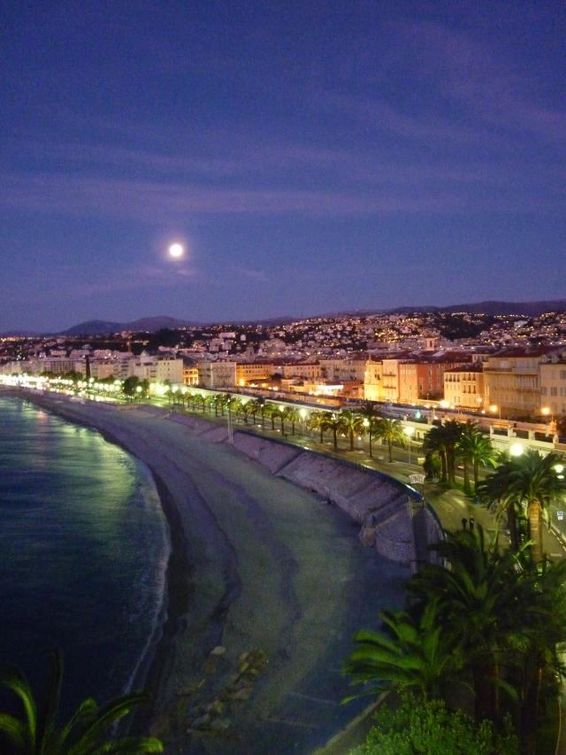 The Promenade des Anglais Nice blue hour