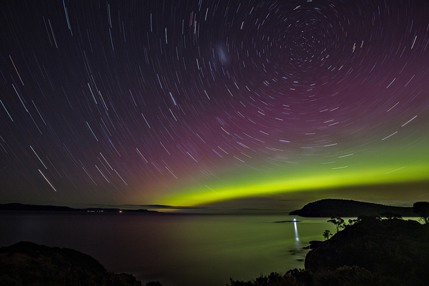 Aurora Southern Lights in Tasmania